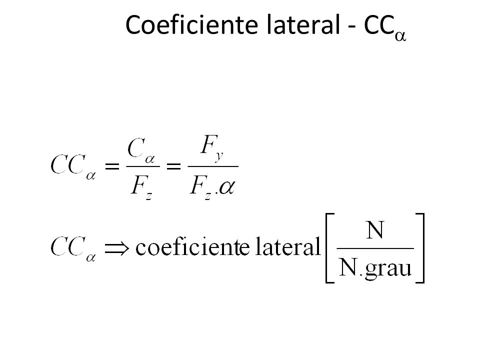 Coeficiente lateral - CC