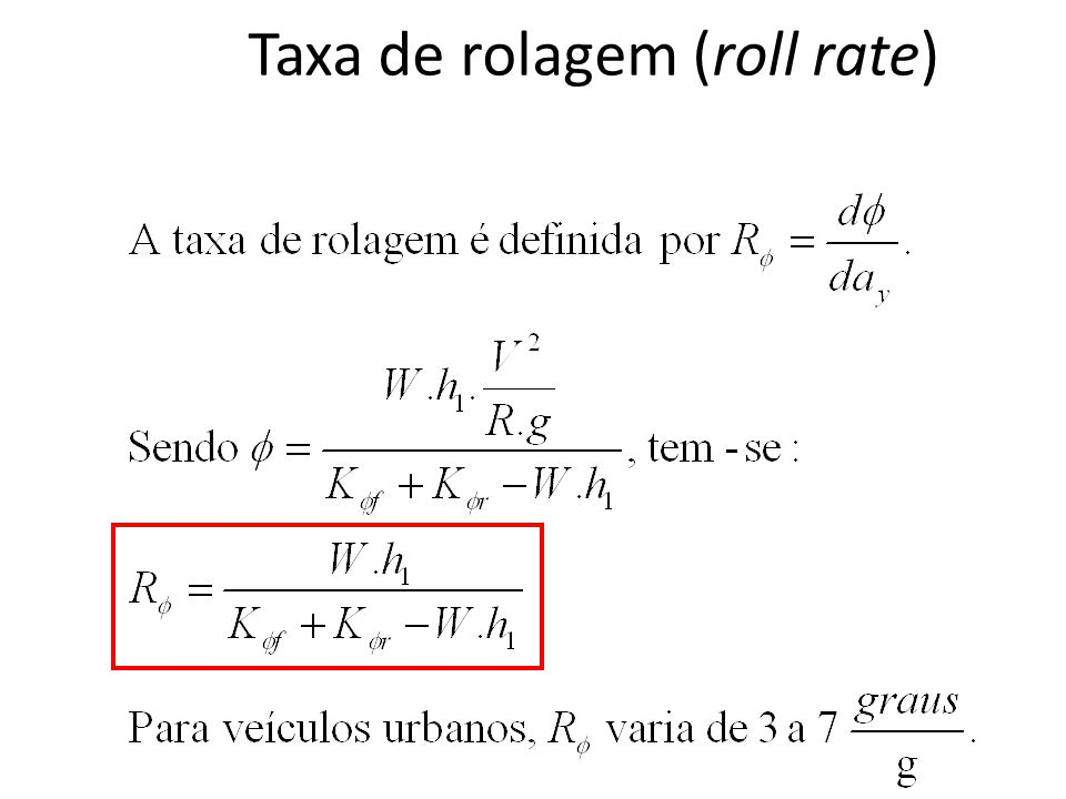 Taxa de rolagem (roll rate)