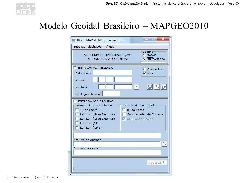 Modelo Geoidal Brasileiro – MAPGEO2010