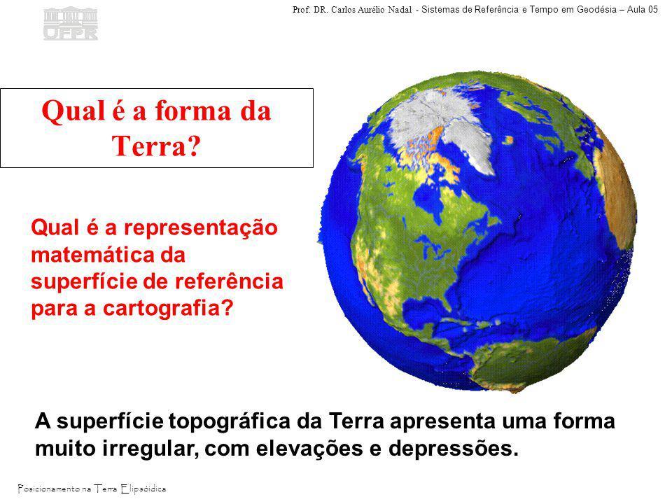 Qual é a forma da Terra Qual é a representação matemática da superfície de referência para a cartografia