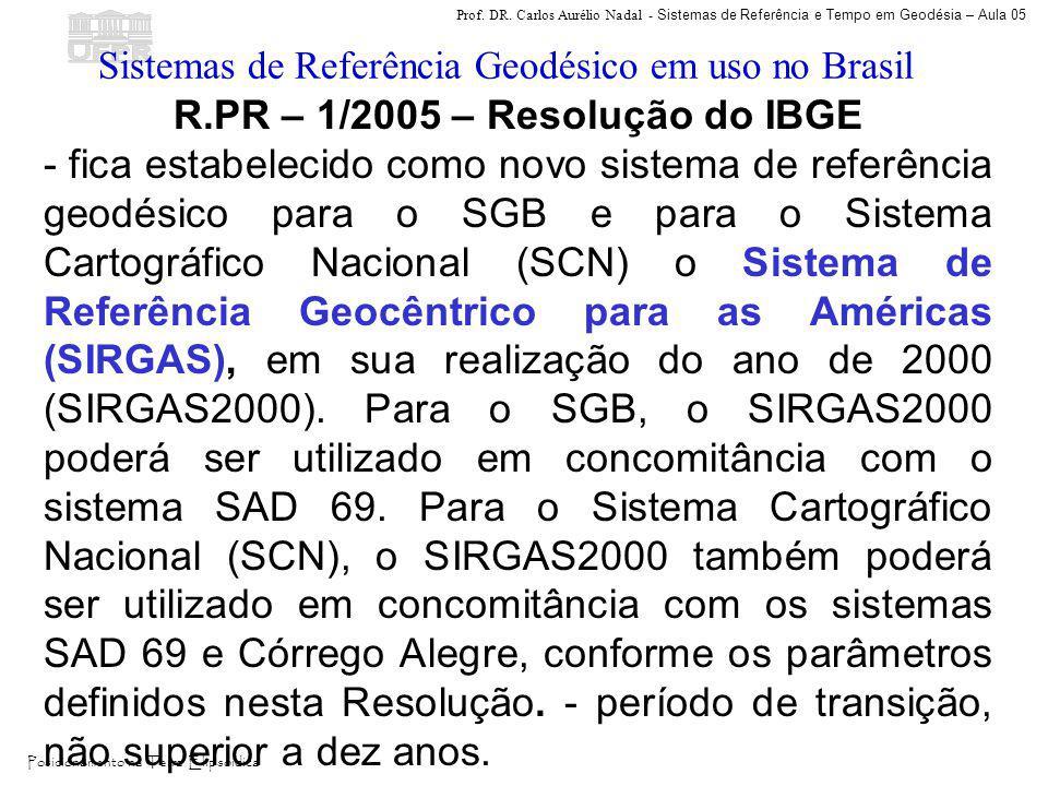 R.PR – 1/2005 – Resolução do IBGE