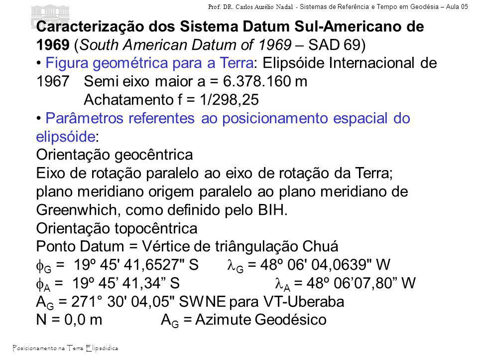 Caracterização dos Sistema Datum Sul-Americano de 1969 (South American Datum of 1969 – SAD 69)