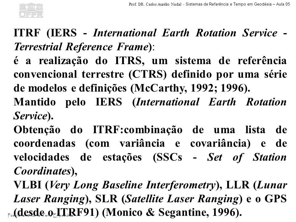 ITRF (IERS - International Earth Rotation Service - Terrestrial Reference Frame):