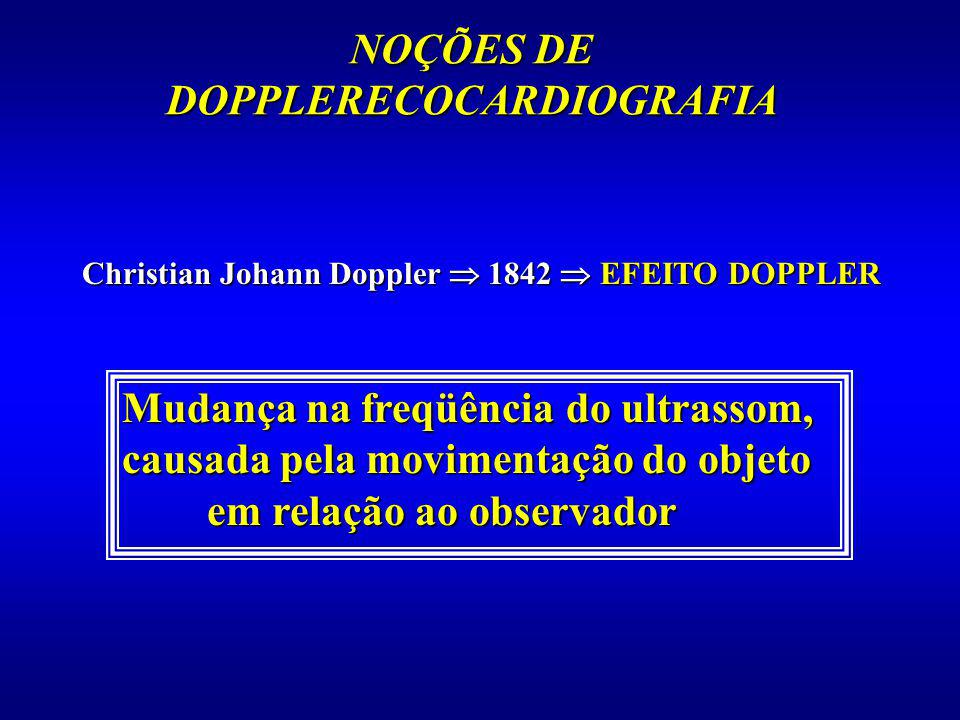 NOÇÕES DE DOPPLERECOCARDIOGRAFIA