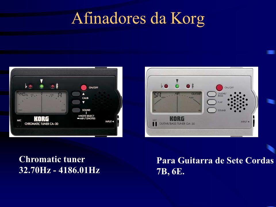 Afinadores da Korg Chromatic tuner Para Guitarra de Sete Cordas