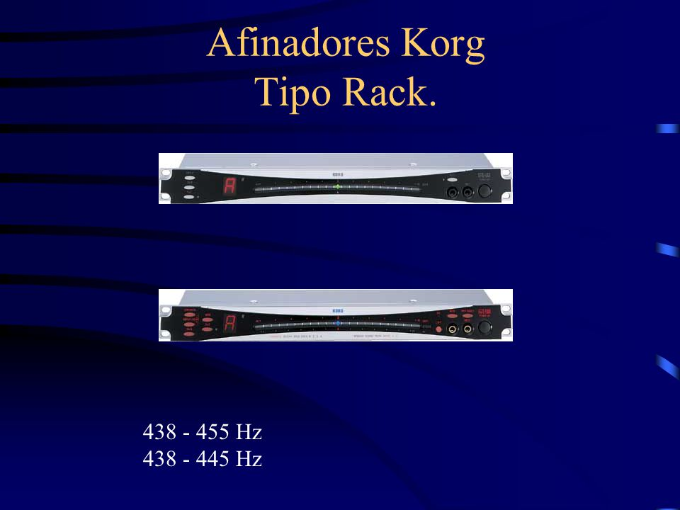 Afinadores Korg Tipo Rack.
