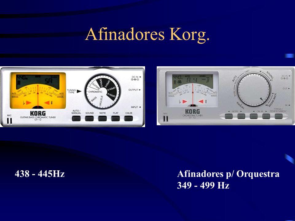 Afinadores Korg. 438 - 445Hz Afinadores p/ Orquestra 349 - 499 Hz