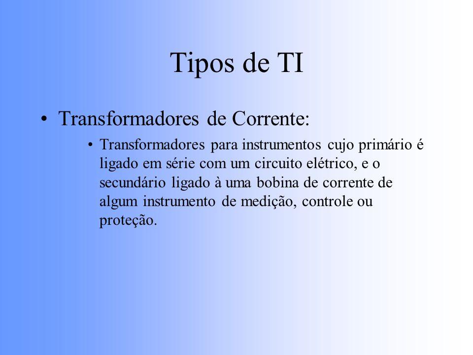 Tipos de TI Transformadores de Corrente: