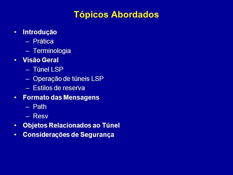 Tópicos Abordados Introdução Prática Terminologia Visão Geral