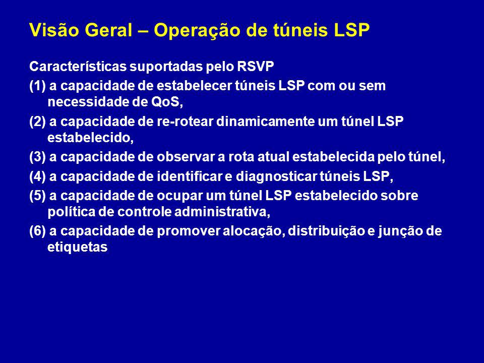 Visão Geral – Operação de túneis LSP