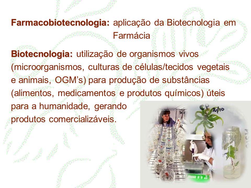 Farmacobiotecnologia: aplicação da Biotecnologia em Farmácia