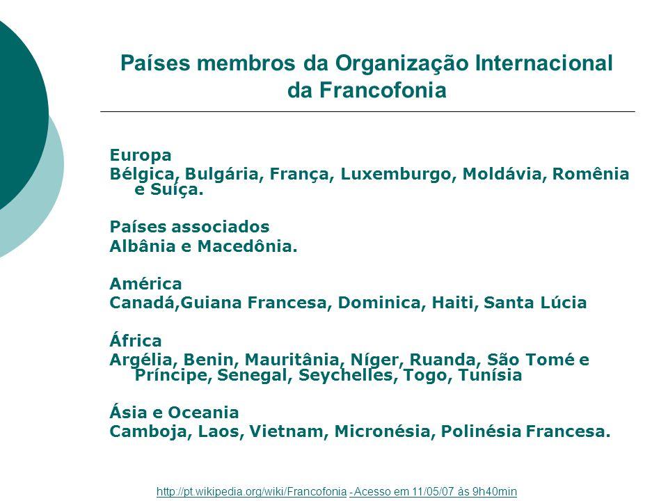 Países membros da Organização Internacional da Francofonia