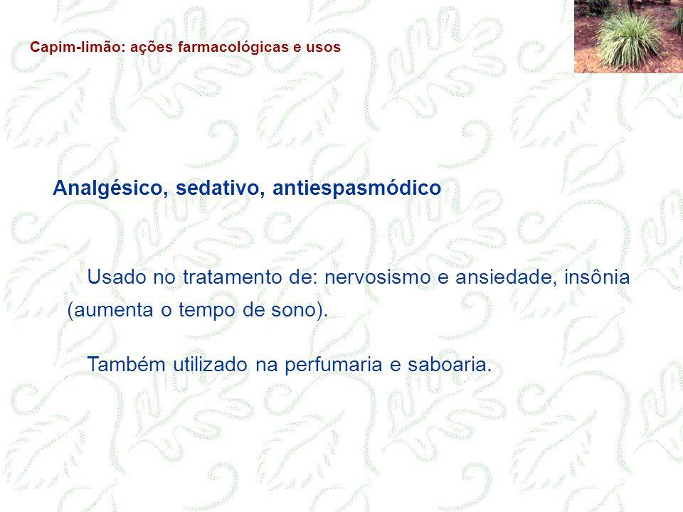 Analgésico, sedativo, antiespasmódico