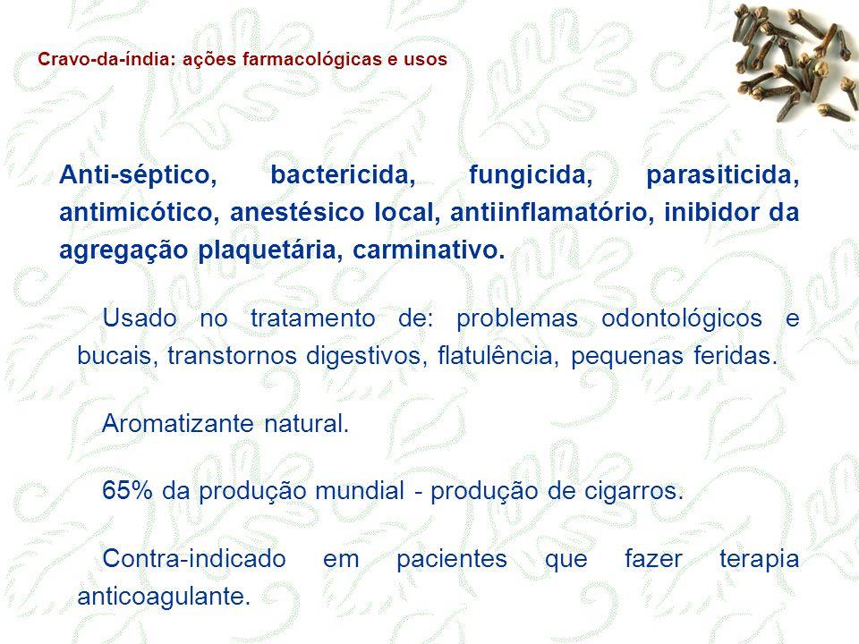 65% da produção mundial - produção de cigarros.