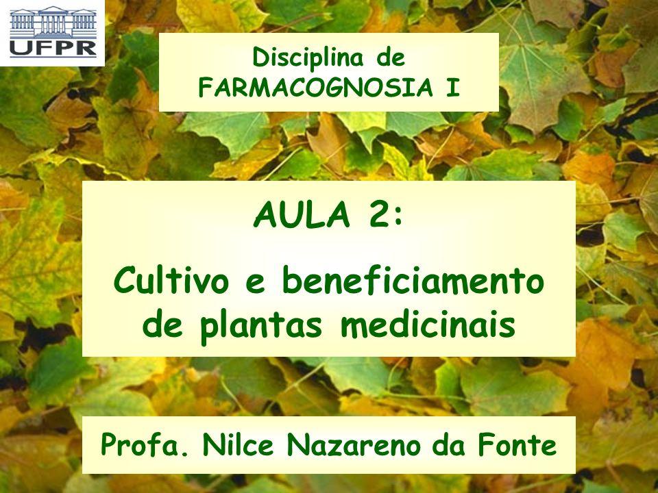 AULA 2: Cultivo e beneficiamento de plantas medicinais