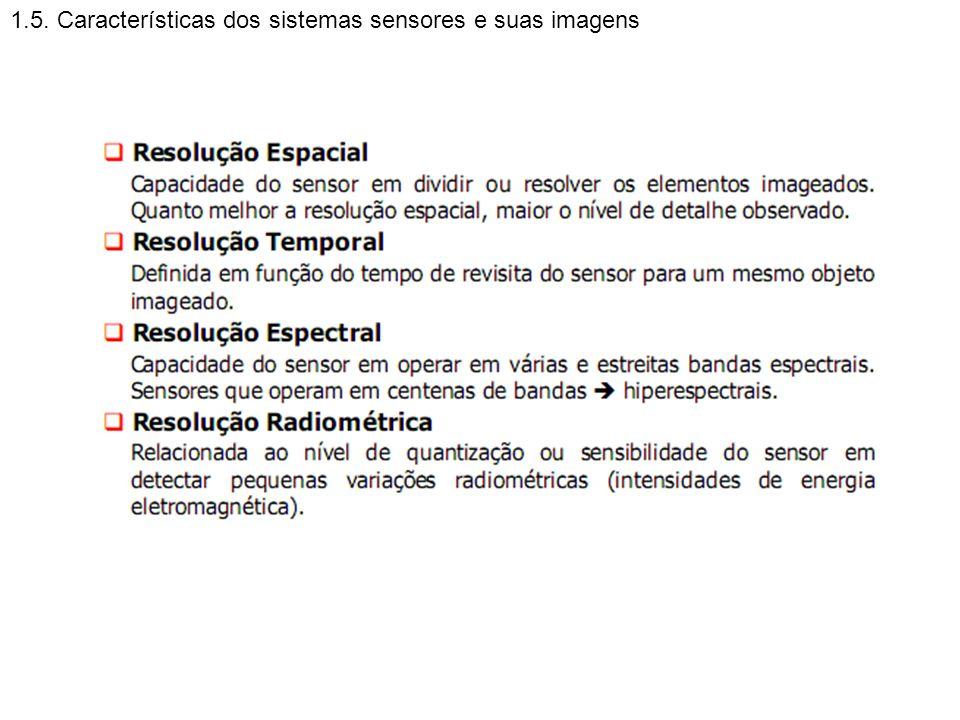 1.5. Características dos sistemas sensores e suas imagens