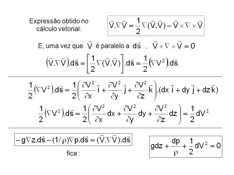 Expressão obtido no cálculo vetorial: