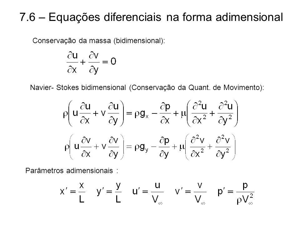 7.6 – Equações diferenciais na forma adimensional