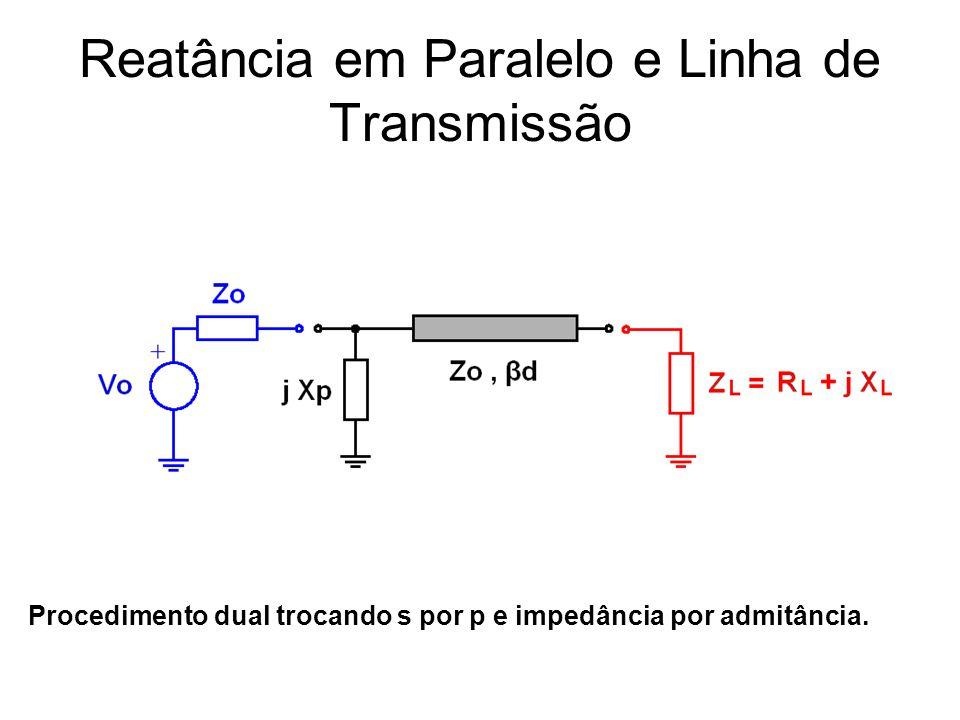 Reatância em Paralelo e Linha de Transmissão
