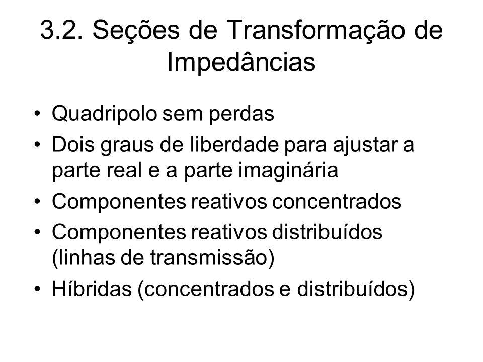 3.2. Seções de Transformação de Impedâncias
