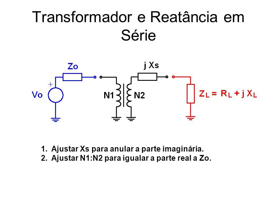 Transformador e Reatância em Série