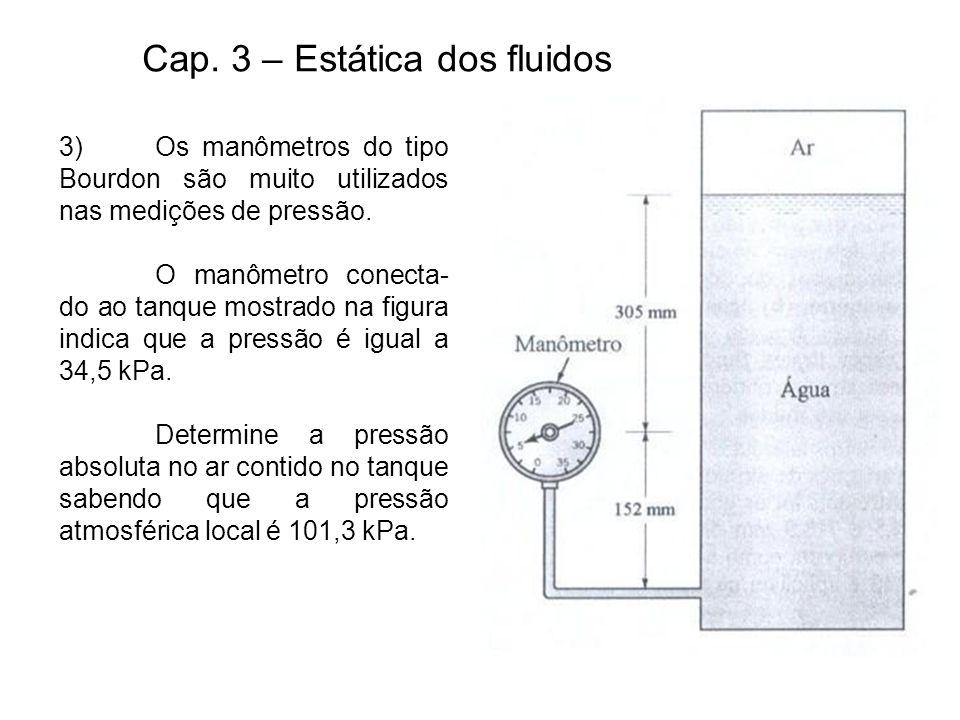 Cap. 3 – Estática dos fluidos