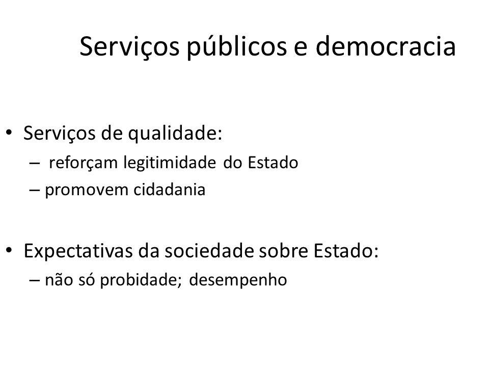 Serviços públicos e democracia