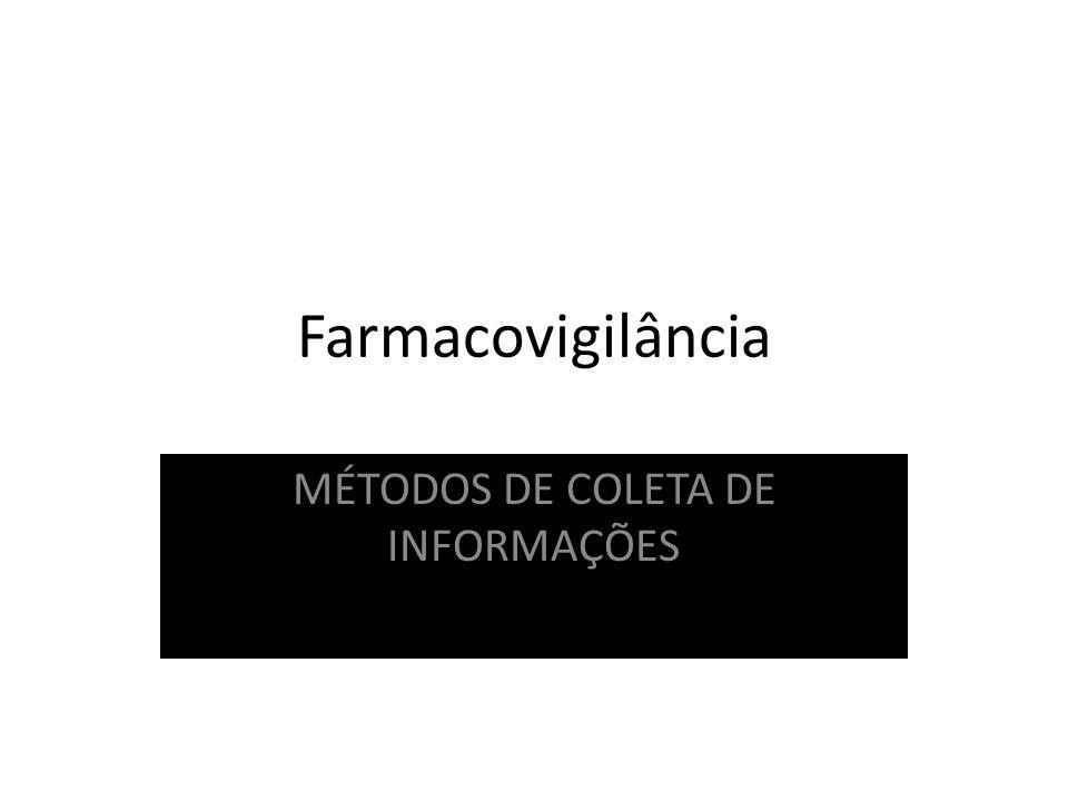 MÉTODOS DE COLETA DE INFORMAÇÕES