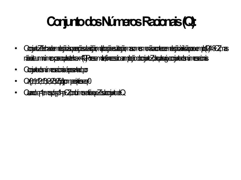 Conjunto dos Números Racionais (Q):