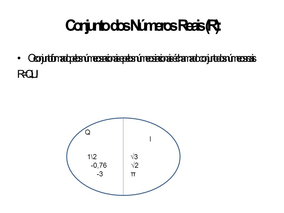 Conjunto dos Números Reais (R):