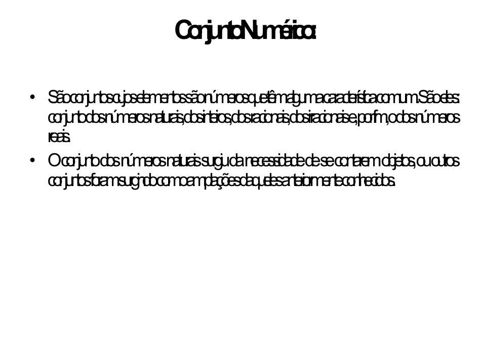 Conjunto Numérico: