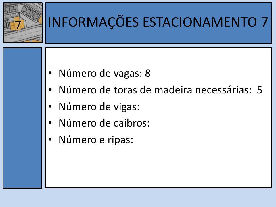 INFORMAÇÕES ESTACIONAMENTO 7
