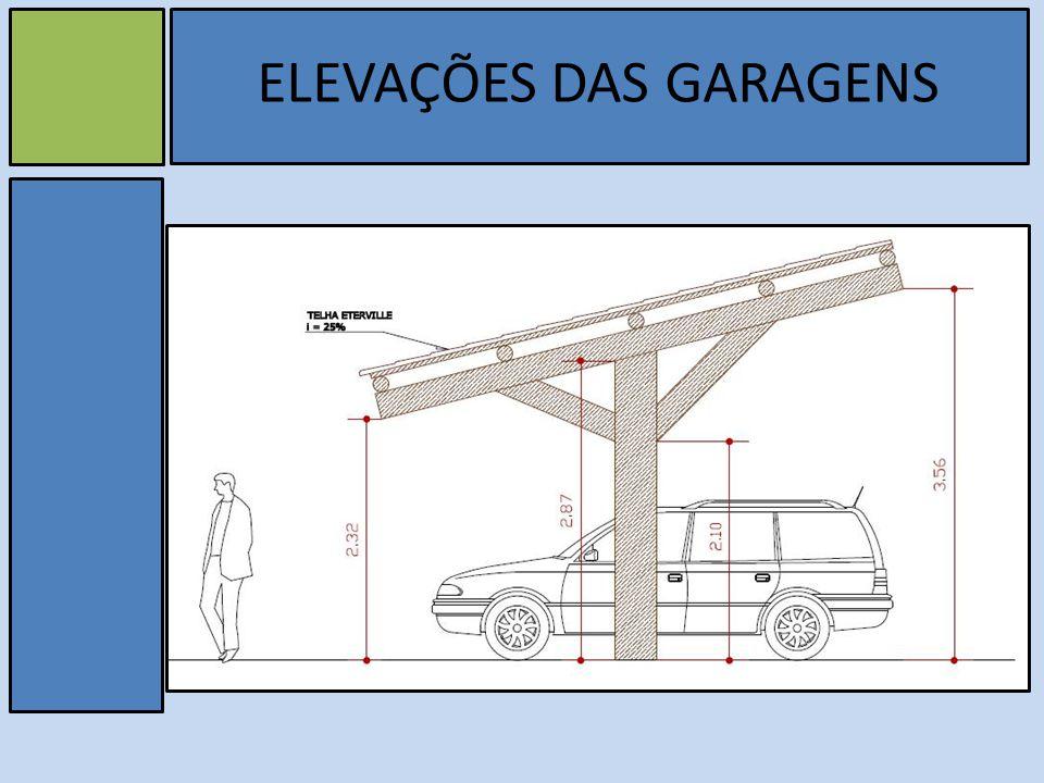 ELEVAÇÕES DAS GARAGENS