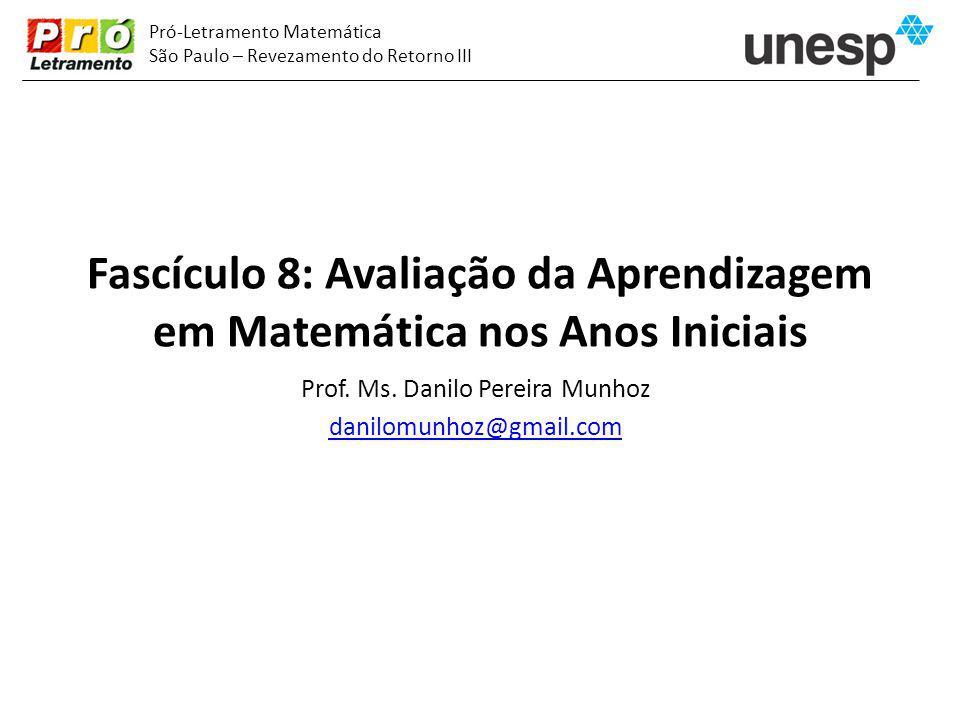 Fascículo 8: Avaliação da Aprendizagem em Matemática nos Anos Iniciais