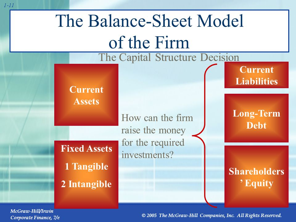 The Balance-Sheet Model of the Firm
