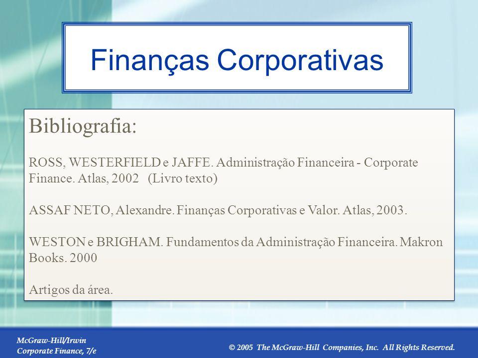 Introdução às Finanças de Empresas