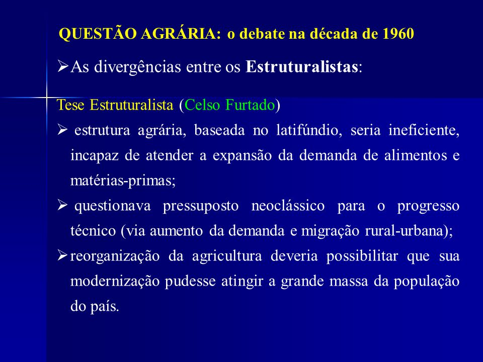 As divergências entre os Estruturalistas:
