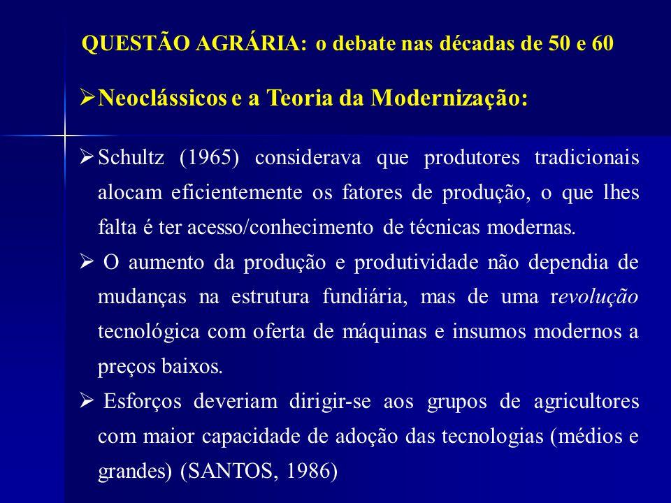 Neoclássicos e a Teoria da Modernização: