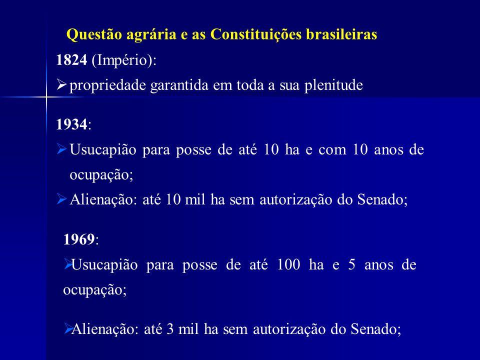 Questão agrária e as Constituições brasileiras