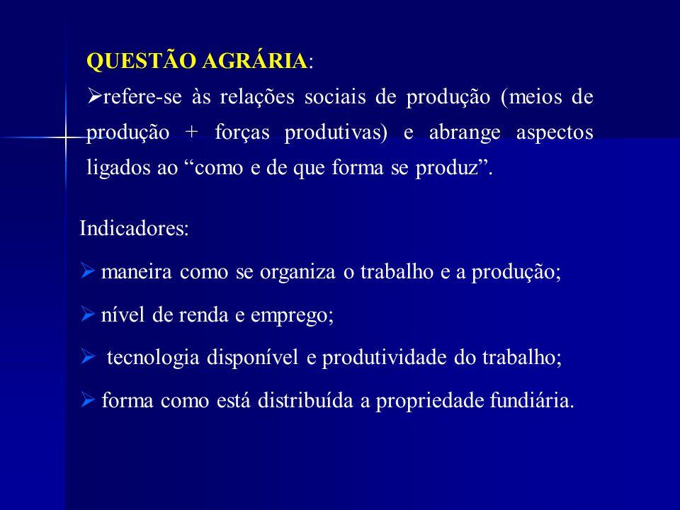 QUESTÃO AGRÁRIA: