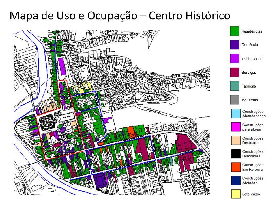 Mapa de Uso e Ocupação – Centro Histórico
