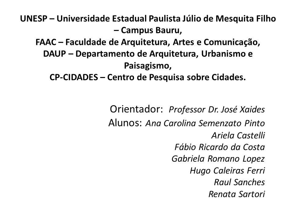 Orientador: Professor Dr. José Xaides