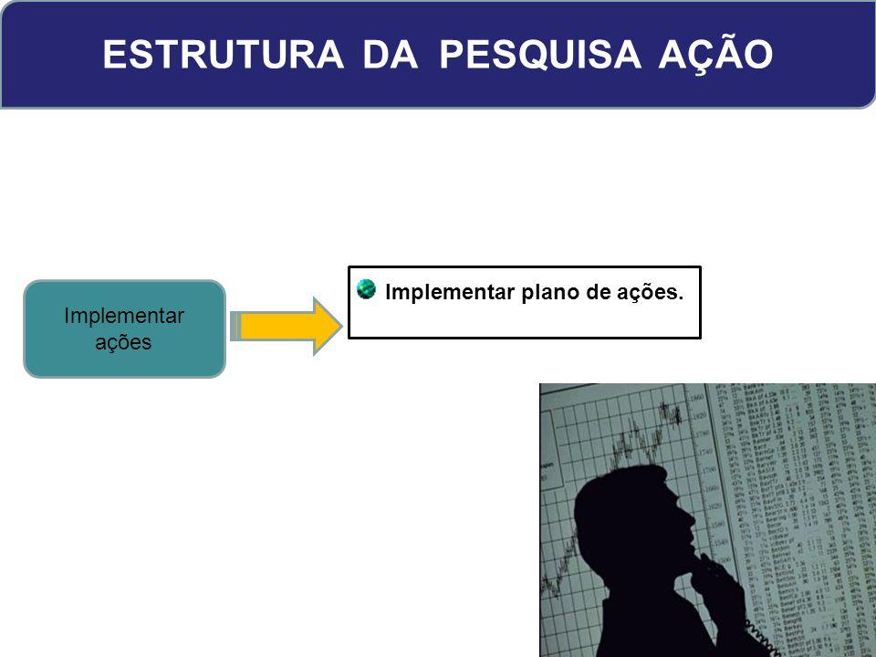 ESTRUTURA DA PESQUISA AÇÃO