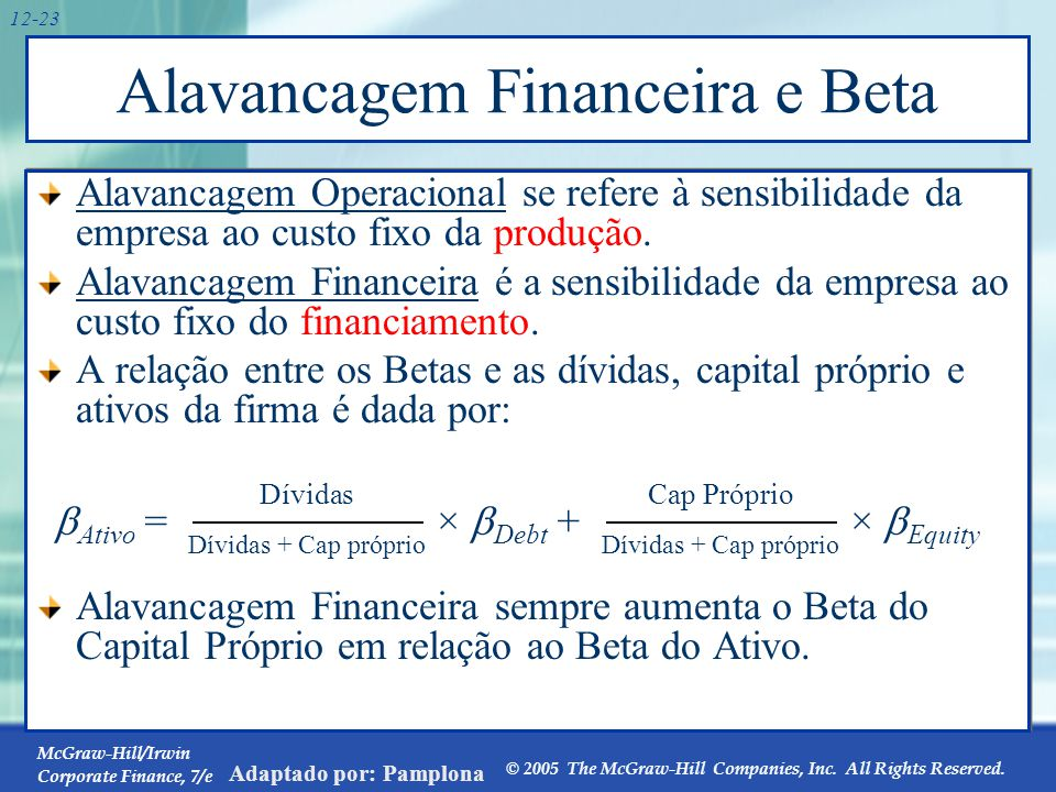 Alavancagem Financeira e Beta: Exemplo