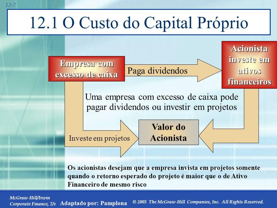O Custo do Capital Próprio