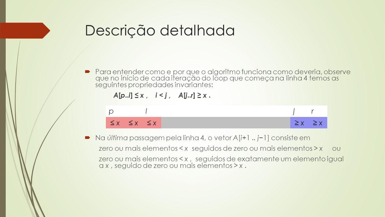 Descrição detalhada p i j r ≤ x ≥ x