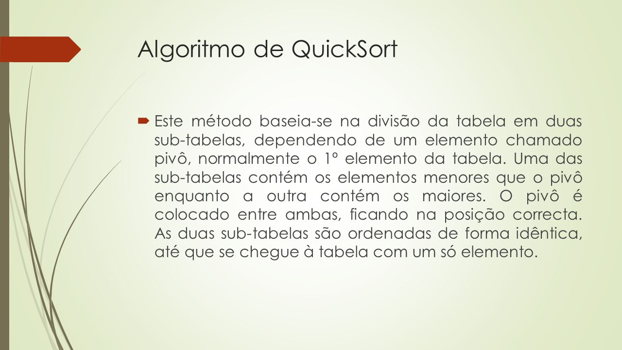 Algoritmo de QuickSort