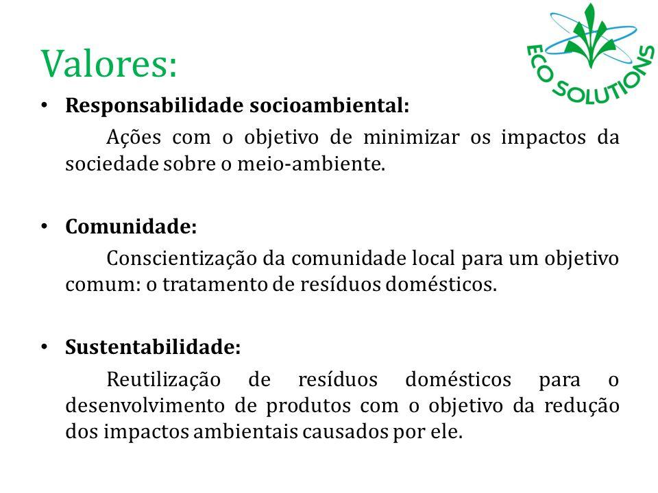 Valores: Responsabilidade socioambiental: