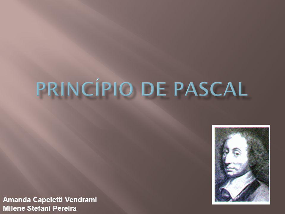 Princípio de pascal Amanda Capeletti Vendrami Milene Stefani Pereira