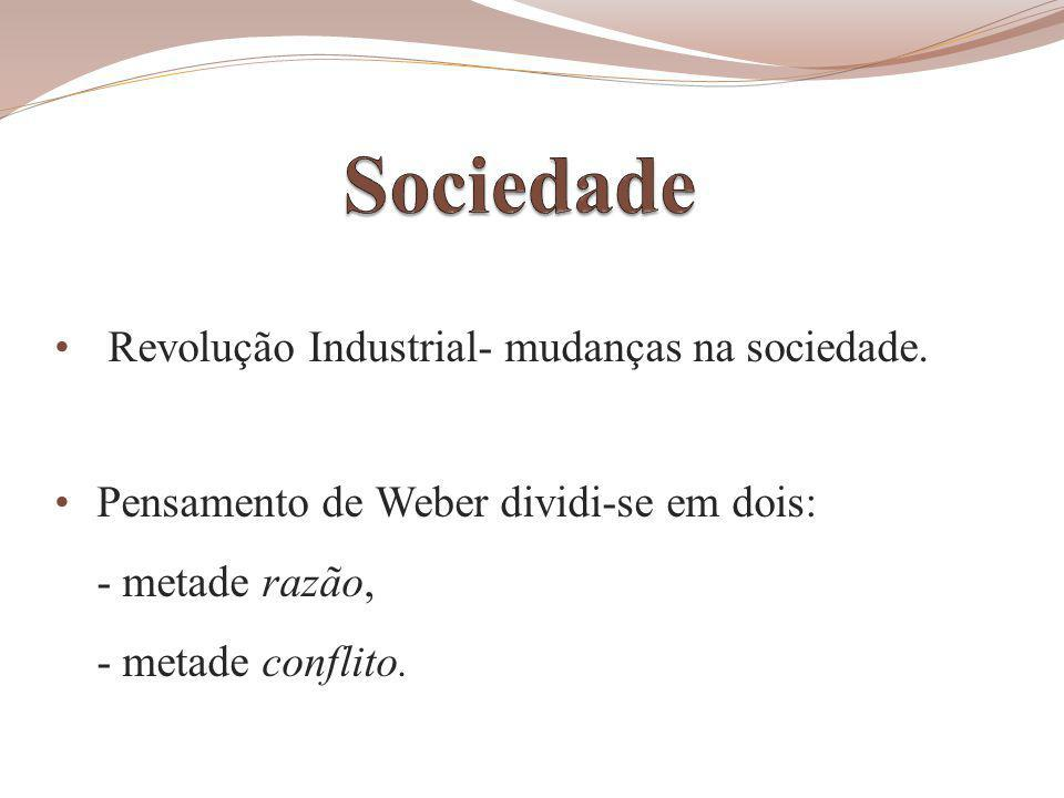 Sociedade Revolução Industrial- mudanças na sociedade.